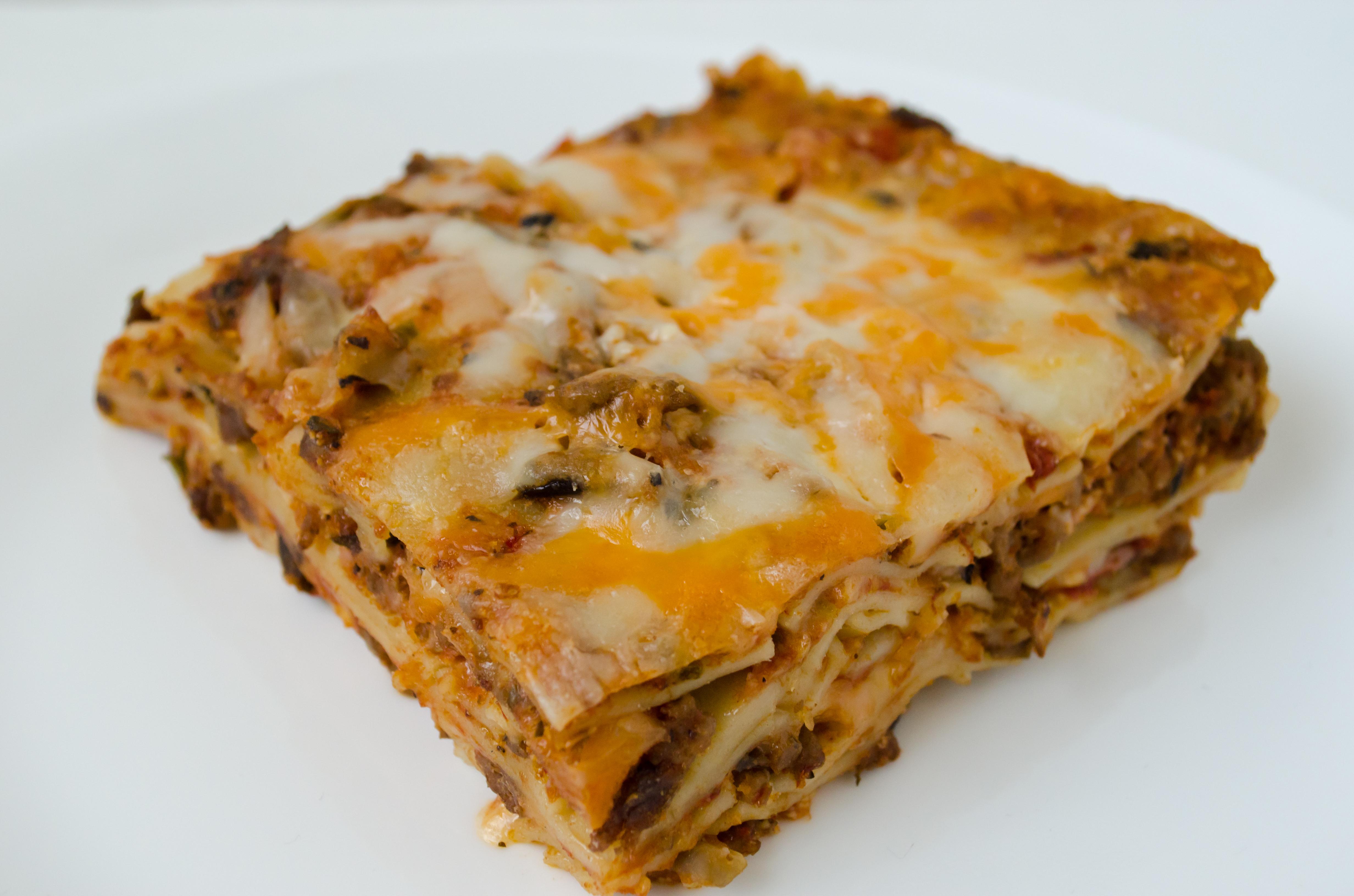 Lamb Brown Rice Lasagna