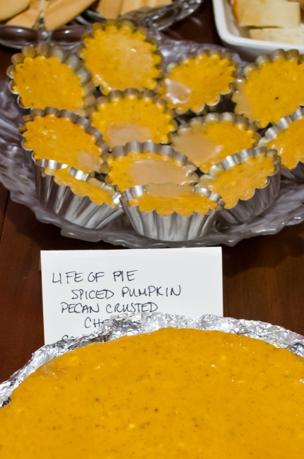 "Life Of Pie: ""Spiced Pumpkin Pecan Crusted Cheesecake w/Bourbon Tiger Sauce"""