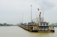 """""""End of the Rainbow"""" - Miraflores lock, Panama Canal"""